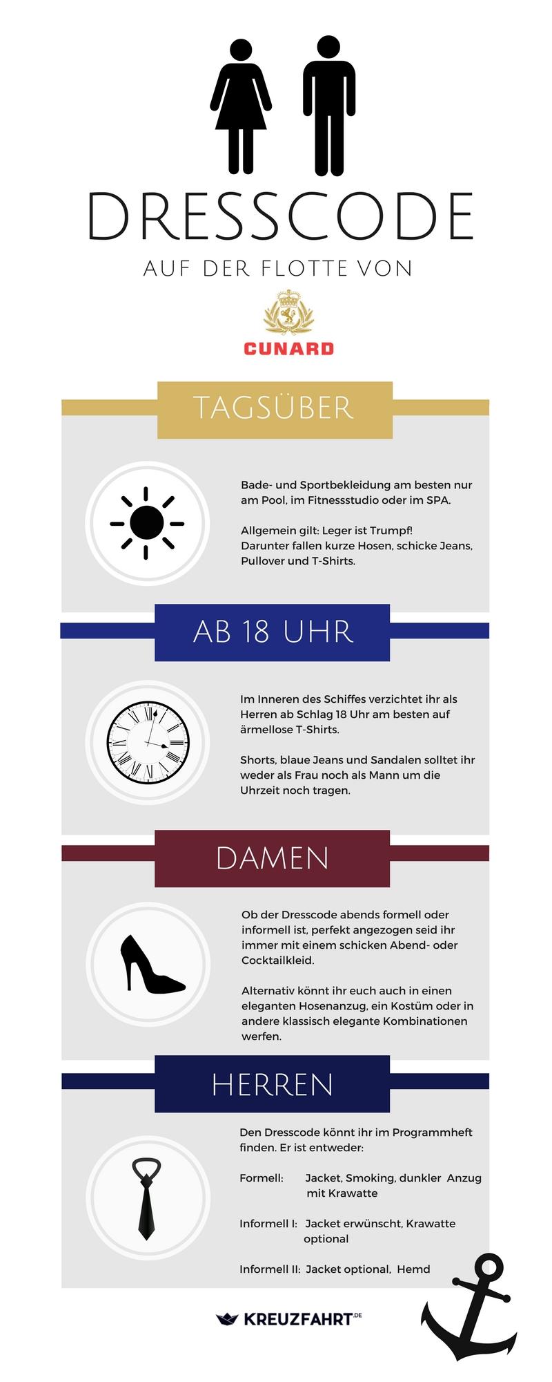 tipps für den dresscode bei der cunard line - kreuzfahrt.de